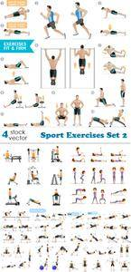 Vectors - Sport Exercises Set 2