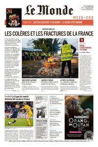 Le Monde du Samedi 8 Décembre 2018