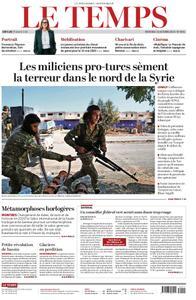 Le Temps - 16 octobre 2019