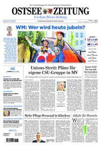 Ostsee Zeitung Wolgast - 27. Juni 2018