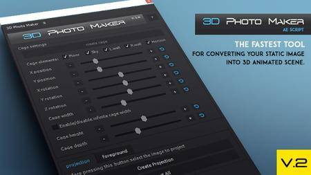 3D Photo Maker - The Script - Script for After Effects (VideoHive)