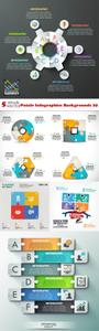 Vectors - Puzzle Infographics Backgrounds 29