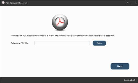 ThunderSoft PDF Password Recovery 2.5.0