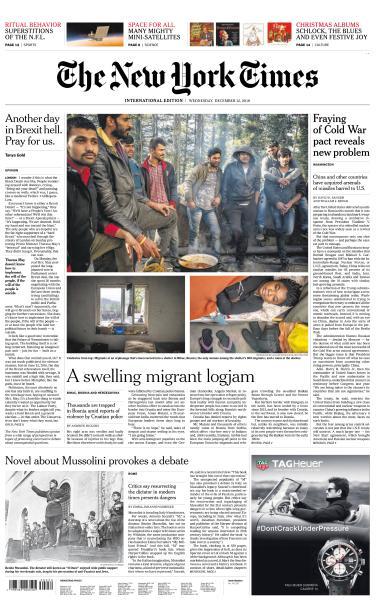 International New York Times - 12 December 2018