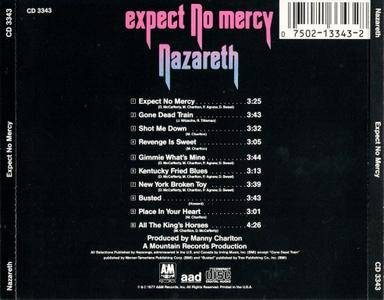 Nazareth Expect No Mercy 1977 Us Press Avaxhome