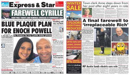 Express and Star City Edition – January 30, 2018