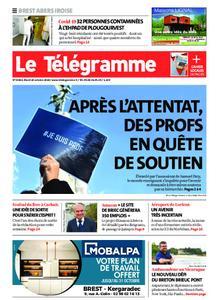 Le Télégramme Brest Abers Iroise – 20 octobre 2020