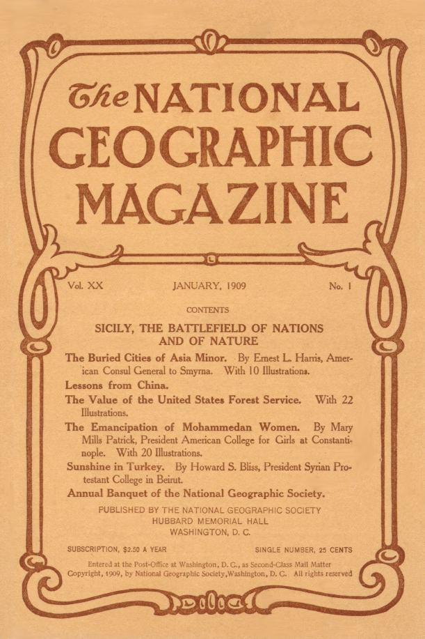 National Geographic 1890 to 1909