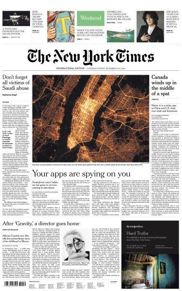 International New York Times - 15-16 December 2018