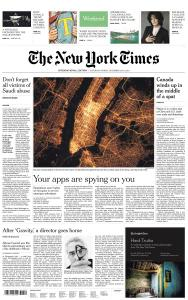 International New York Times - 15-16 December 2018