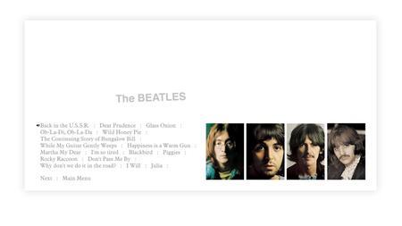 The Beatles - The White Album (2018) [Blu-ray]