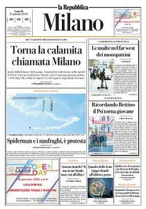 la Repubblica Milano - 13 Gennaio 2020