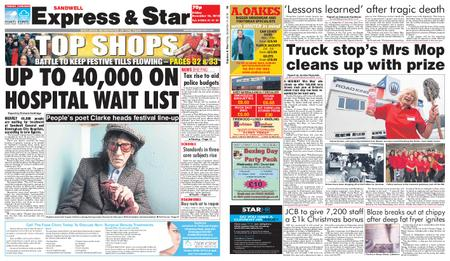 Express and Star Sandwell Edition – December 14, 2018