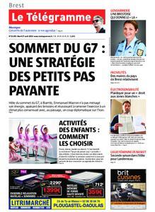 Le Télégramme Brest Abers Iroise – 27 août 2019