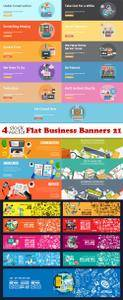 Vectors - Flat Business Banners 21