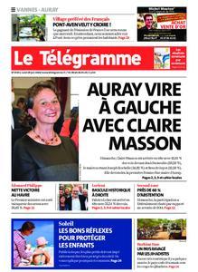 Le Télégramme Auray – 29 juin 2020