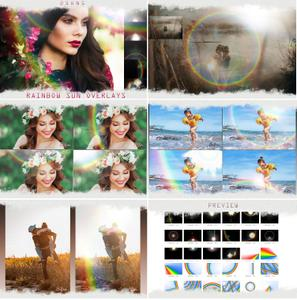 Rainbow overlays & textures, rainbow action, rainbow presets - 240662