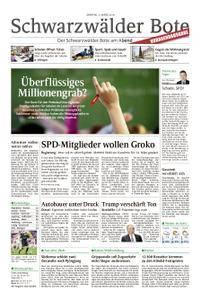 Schwarzwälder Bote St. Georgen, Triberg, Furtwangen - 05. März 2018
