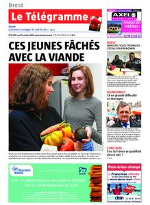 Le Télégramme Brest – 14 octobre 2019