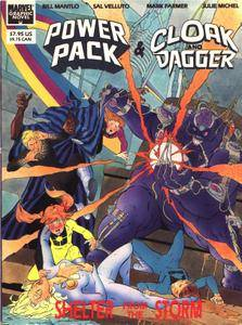 Marvel Graphic Novel 56 - Cloak and Dagger  Power Pack - Shelter From The Storm 1989