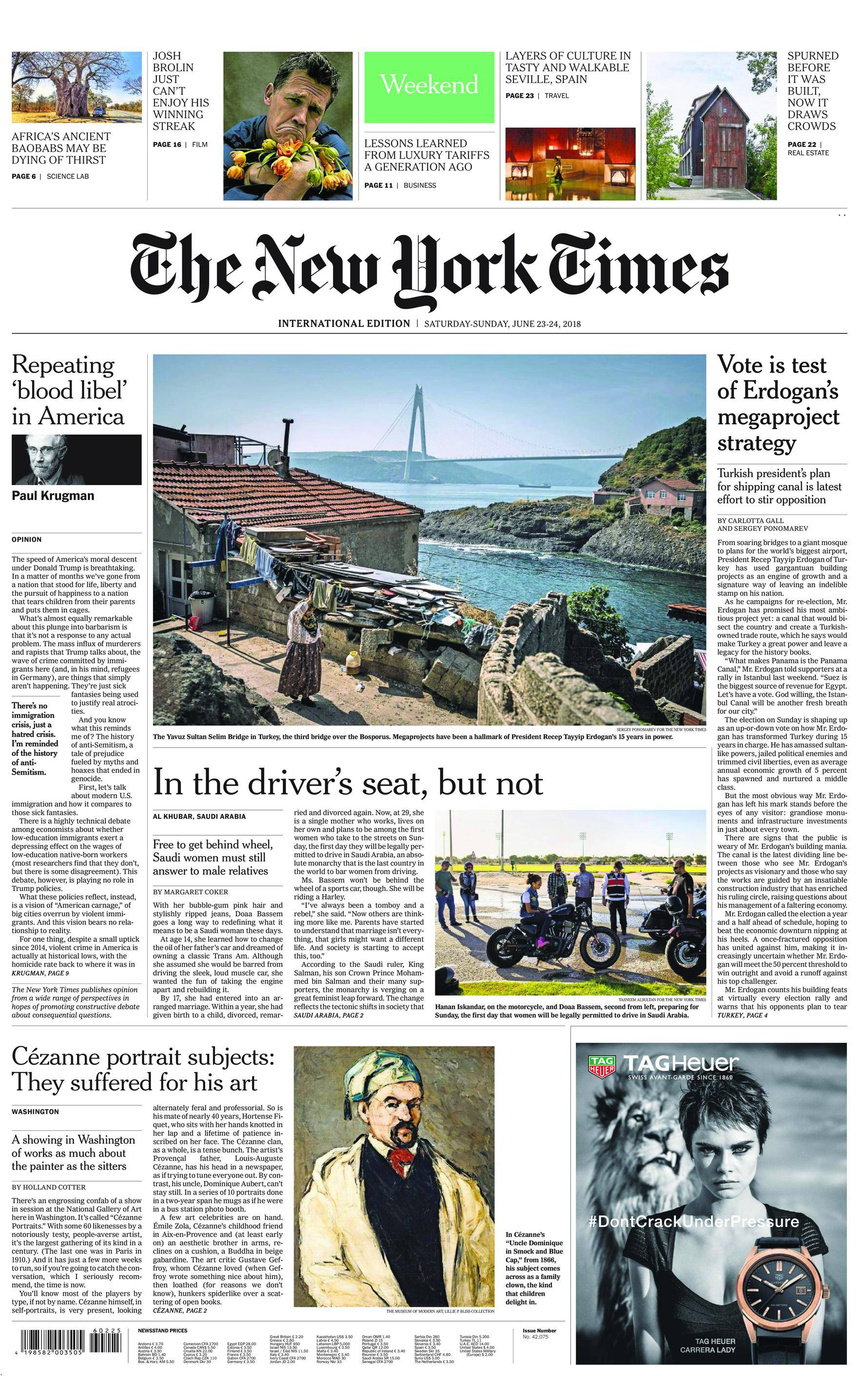 International New York Times - 23 June 2018