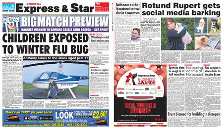 Express and Star Sandwell Edition – January 21, 2019