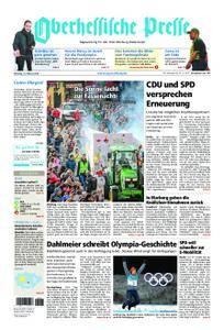 Oberhessische Presse Marburg/Ostkreis - 13. Februar 2018