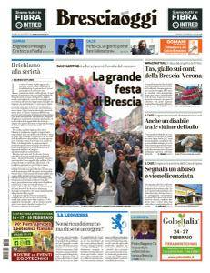 Brescia Oggi - 16 Febbraio 2018