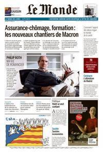 Le Monde du Vendredi 13 Octobre 2017