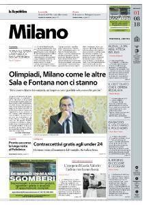 la Repubblica Milano - 1 Agosto 2018