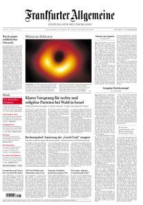 Frankfurter Allgemeine Zeitung F.A.Z. - 11. April 2019