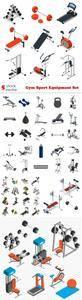 Vectors - Gym Sport Equipment Set