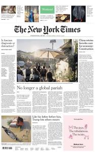 International New York Times - 1-2 August 2020