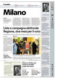 la Repubblica Milano - 6 Gennaio 2018