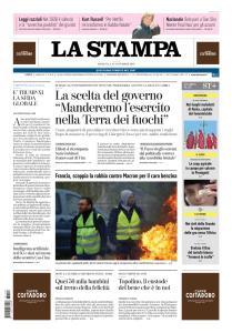 La Stampa Torino Provincia e Canavese - 18 Novembre 2018