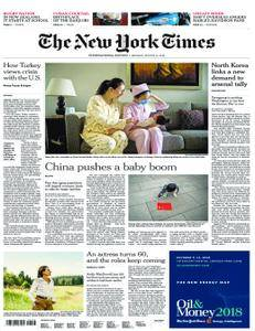 International New York Times - 13 August 2018