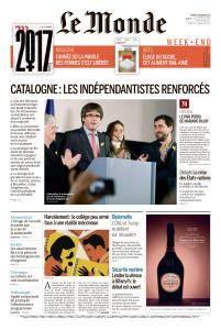 Le Monde du Samedi 23 Décembre 2017