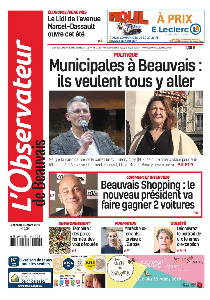 L'Observateur de Beauvais - 15 mars 2019