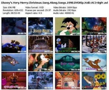 Disney Sing Along Songs Very Merry Christmas Songs.Disney S Sing Along Songs Very Merry Christmas Songs 1998