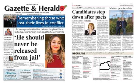 Gazette & Herald – November 14, 2019