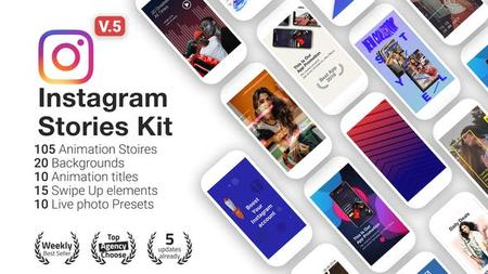 Instagram Stories Kit - Instagram Story Pack V5 - Project for After Effects (VideoHive) 22195723