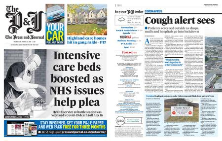 The Press and Journal Moray – March 25, 2020