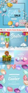 Vectors - Creative Easter Backgrounds 14