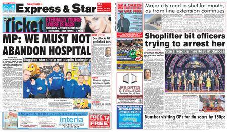 Express and Star Sandwell Edition – January 19, 2018