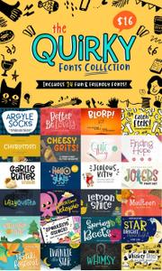 The Quirky Fonts Collection 3524116