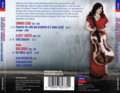 Alisa Weilerstein; Staatskapelle Berlin, Daniel Barenboim - Elgar, Carter: Cello Concertos; Bruch: Kol Nidrei (2012) [Re-Up]