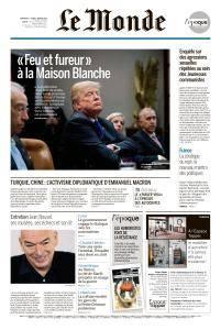 Le Monde du Dimanche 7 et Lundi 8 Janvier 2018
