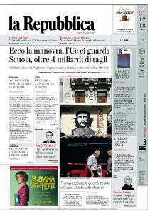 la Repubblica - 31 Dicembre 2018