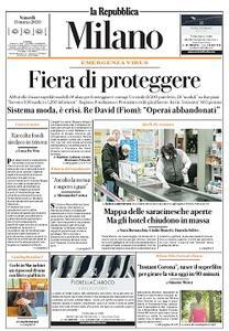la Repubblica Milano - 13 Marzo 2020