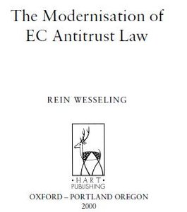Modernisation of EC Antitrust Law